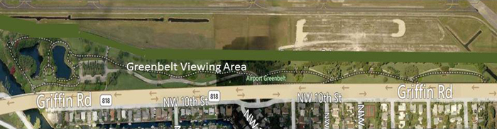 Greenbelt Viewing Area Map