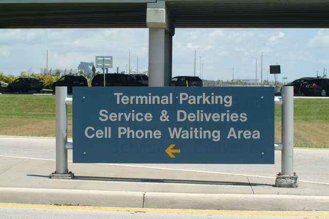 Entrance Sign to Cell Phone Waiting Area