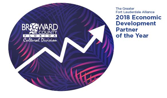 Broward Cultural Division is the Fort Lauderdale Alliance's 2018 Economic Partner of the Year