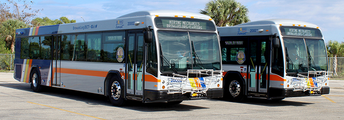Two BCT Buses