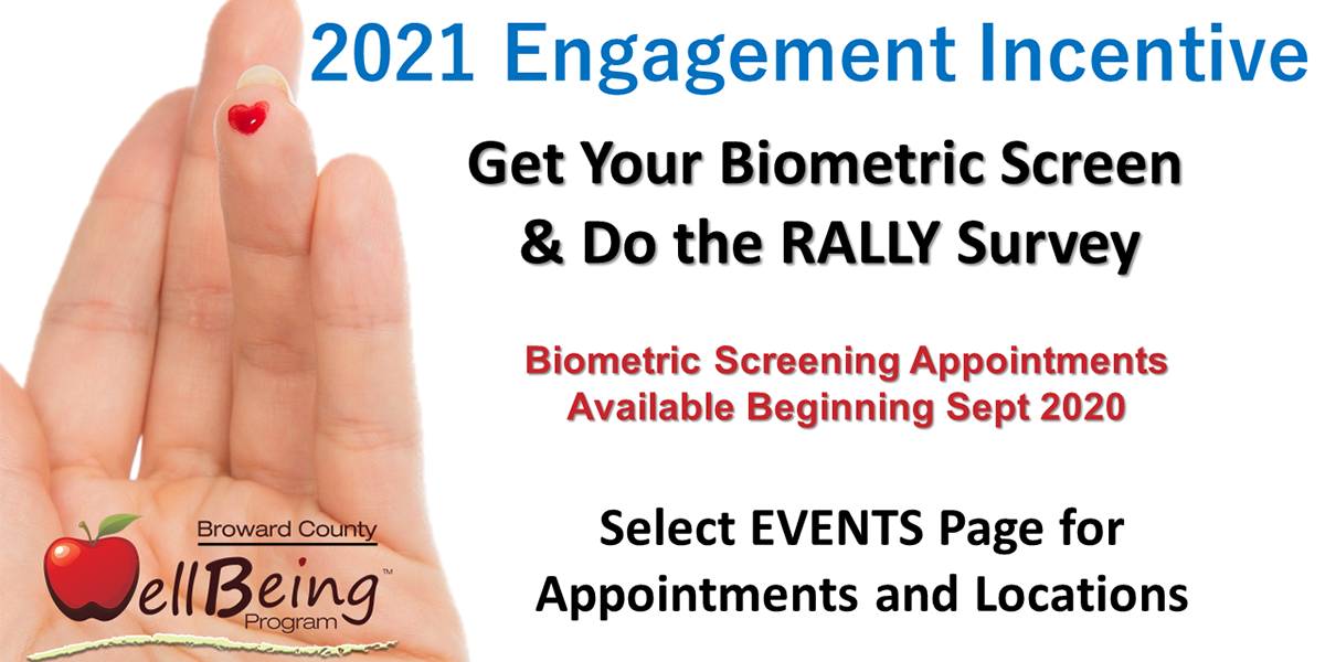 2021 Engagement Incentive Get your biometric done schedule select here