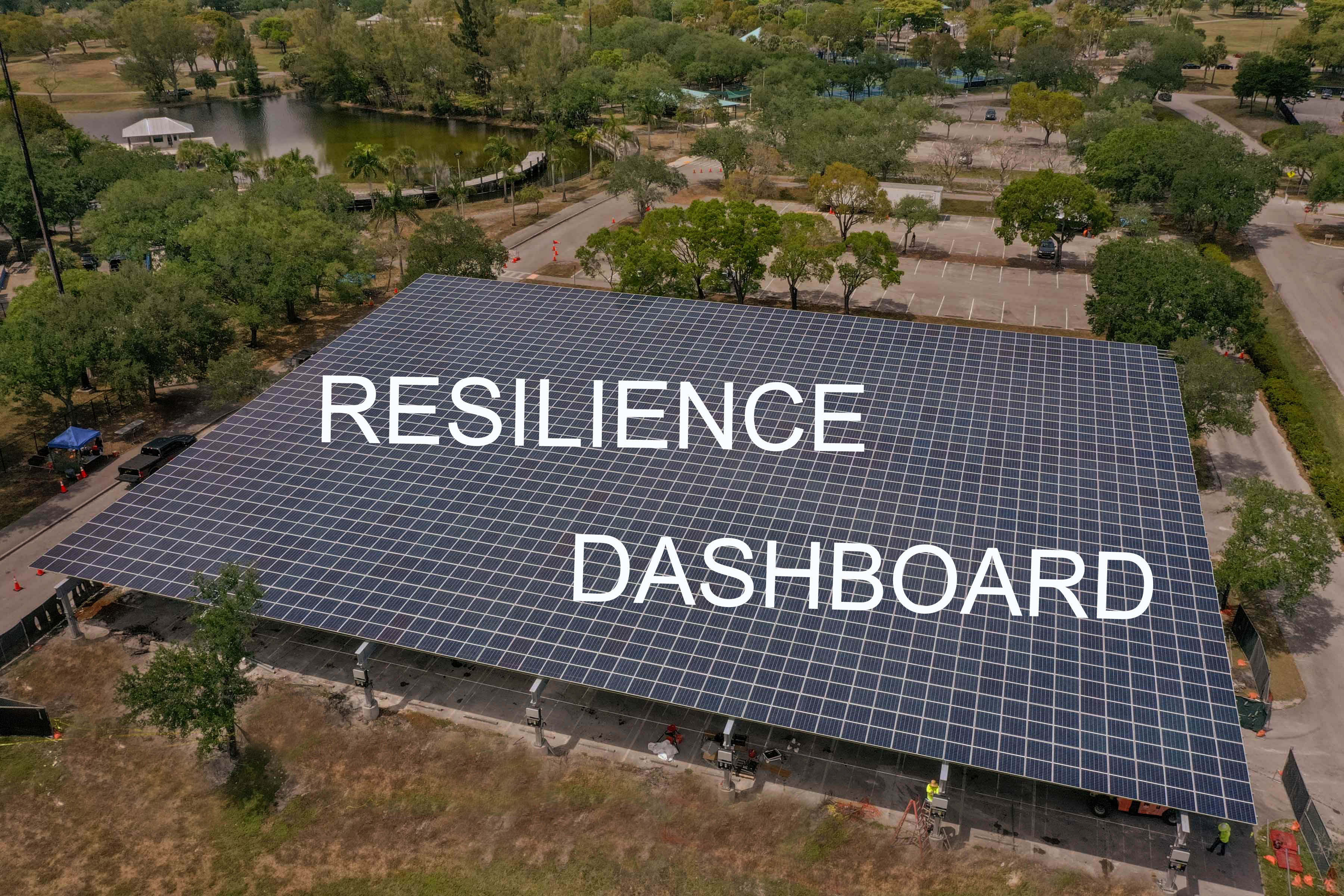 resilience dashboard, solar array