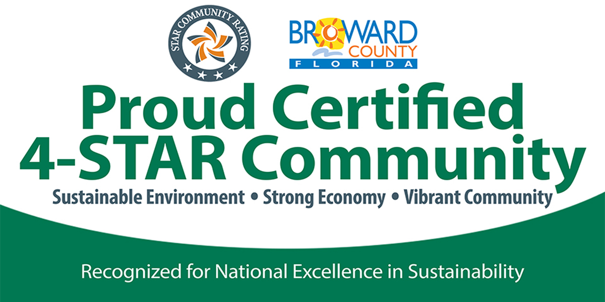 Broward County is a proud certified 4 STAR Community