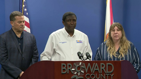 Mayor Dale Holness speaks at a press conference