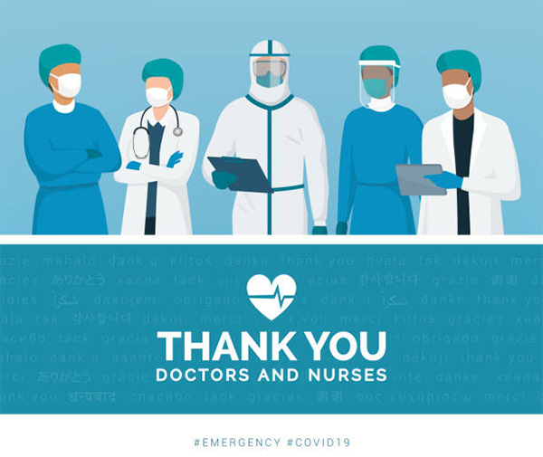 Thank you doctors and nurses.