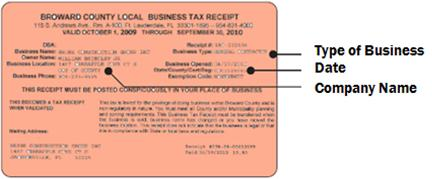 Broward County Business Tax Receipt