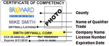 Broward County Certificate of Competency