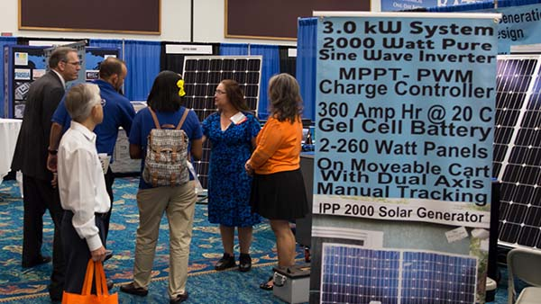 The Go SOLAR exhibit hall was jam-packed with residents and local businesses