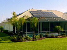 Solar panels on the roof of a Florida home