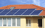 Residental home with solar panels