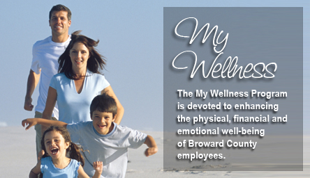 Family on the beach: My Wellness program is devoted to enhancing the physical, financial 