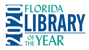 florida library of the year logo