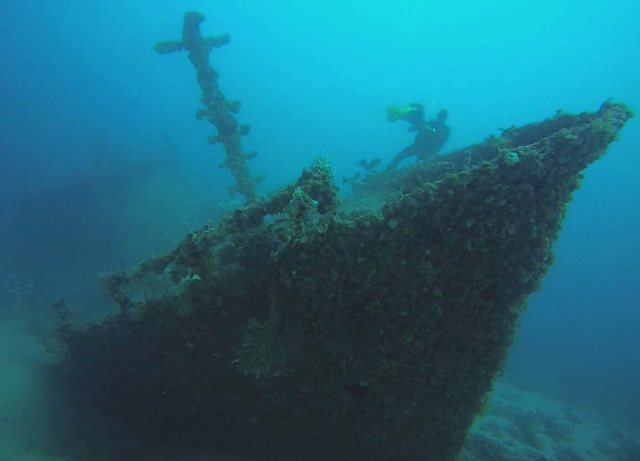 bow of Eben-Ezer wreck