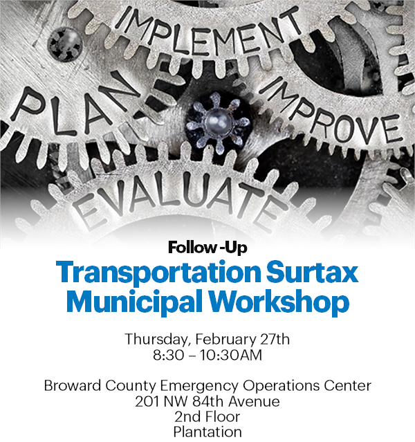 Follow Up Transportation Surtax Municipal Workshop