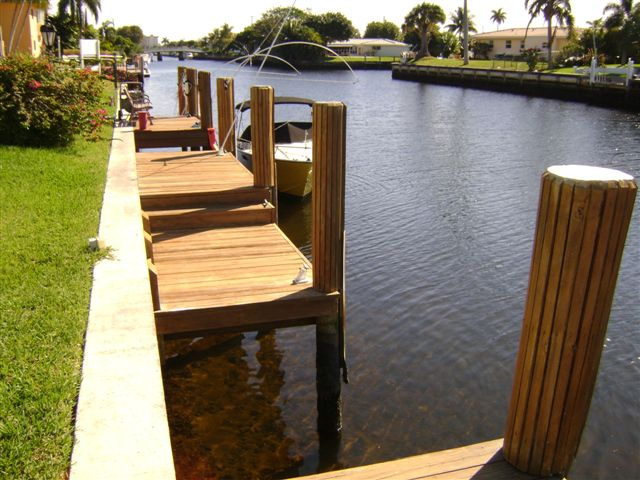 Dock and Seawall on a Canal