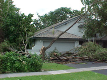 House after a hurricane