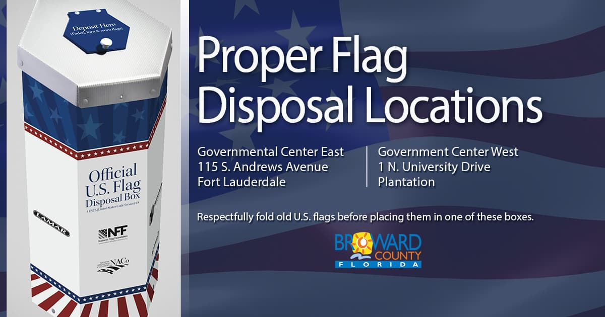 Proper flag disposal locations