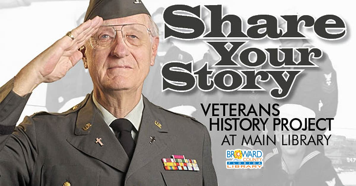 Share your story for veteran's history project